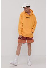 Levi's® - Levi's - Bluza bawełniana. Okazja: na spotkanie biznesowe, na co dzień. Kolor: pomarańczowy. Materiał: bawełna. Wzór: nadruk. Styl: casual, biznesowy