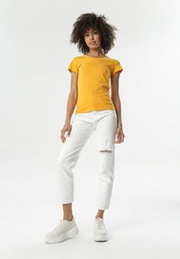 Born2be - Żółty T-shirt Nysalphia. Kolor: żółty