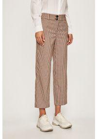Brązowe spodnie materiałowe only