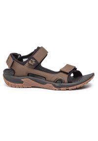 Brązowe sandały trekkingowe Jack Wolfskin na lato