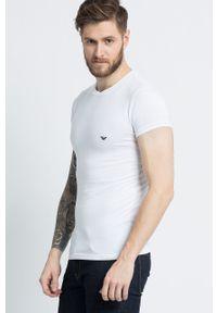 Emporio Armani Underwear - T-shirt. Okazja: na co dzień. Kolor: biały. Materiał: dzianina. Wzór: gładki. Styl: casual