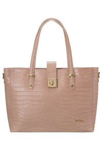 Skórzana torebka damska różowa Badura T_D213ROZ_CD. Kolor: różowy. Materiał: skórzane