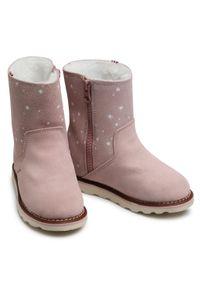 Viking - Kozaki VIKING - Elina Wp 3-90625-94 Dusty Pink. Okazja: na spacer. Wysokość cholewki: za kostkę. Kolor: różowy. Materiał: skóra, zamsz. Szerokość cholewki: normalna. Sezon: zima