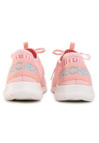 Różowe buty do fitnessu skechers z cholewką, na co dzień
