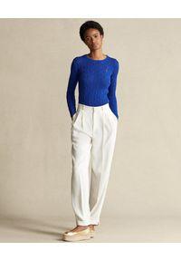 Niebieski sweter Ralph Lauren polo, na wiosnę, długi