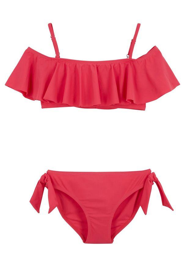 Bikini dziewczęce (2 części) bonprix różowy. Kolor: różowy