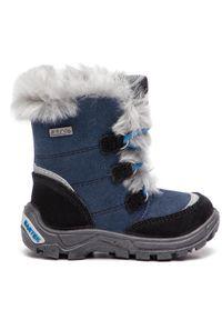 Bartek - Śniegowce BARTEK - 41528/J5A Czarno Niebieski. Kolor: niebieski. Materiał: zamsz, materiał, skóra. Szerokość cholewki: normalna