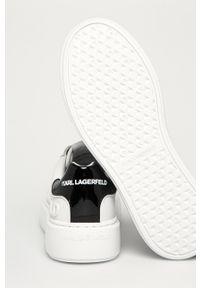 Karl Lagerfeld - Buty skórzane. Nosek buta: okrągły. Zapięcie: sznurówki. Kolor: biały. Materiał: skóra. Obcas: na platformie