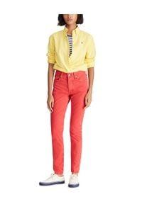 Ralph Lauren - RALPH LAUREN - Koszula Relaxed Fit. Typ kołnierza: polo. Kolor: żółty. Materiał: materiał. Długość rękawa: długi rękaw. Długość: długie. Wzór: kolorowy, haft