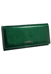 Klasyczny portfel damski Badura B-72401P-SH zielony. Kolor: zielony. Materiał: skóra