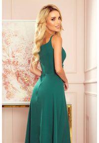Sukienka wieczorowa Numoco maxi, na ramiączkach, z aplikacjami
