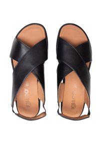 Czarne sandały Igi & Co casualowe, na co dzień, na obcasie