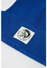 Niebieska czapka Diesel