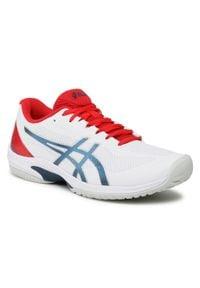 Asics - Buty ASICS - Court Speed FF 1041A092 White/Mako Blue 105. Kolor: biały. Materiał: materiał