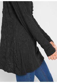 Czarna tunika bonprix z długim rękawem, długa