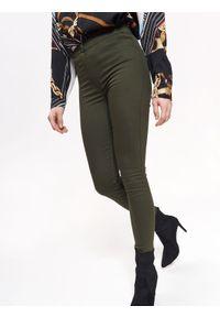 Zielone spodnie TROLL w kolorowe wzory, na zimę, do pracy #7