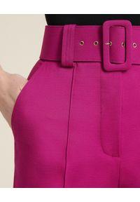 Luisa Spagnoli - LUISA SPAGNOLI - SpodnieOsten. Kolor: różowy, wielokolorowy, fioletowy. Materiał: wiskoza