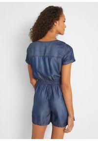 Kombinezon dżinsowy TENCEL™ bonprix ciemnoniebieski. Kolor: niebieski