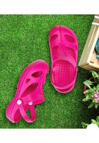 REALPAKS - Klapki dziecięce Realpaks SLD-06/2 Różowe. Okazja: na plażę. Kolor: różowy. Materiał: tworzywo sztuczne. Styl: młodzieżowy