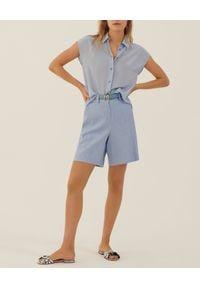 Marella - MARELLA - Błękitna koszula z jedwabiu Offerta. Kolor: niebieski. Materiał: jedwab. Styl: klasyczny, elegancki