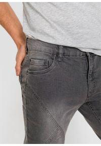 Długie bermudy dżinsowe ze stretchem Regular Fit bonprix szary denim. Kolor: szary. Długość: długie