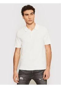 Only & Sons - ONLY & SONS Polo Moose 22019416 Biały Regular Fit. Typ kołnierza: polo. Kolor: biały