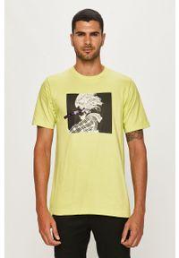 T-shirt Diesel z okrągłym kołnierzem, casualowy, z nadrukiem, na co dzień