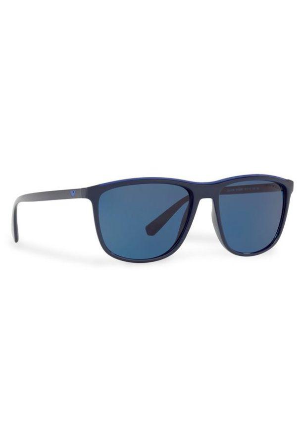 Niebieskie okulary przeciwsłoneczne Emporio Armani