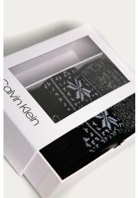 Czarne skarpetki Calvin Klein z nadrukiem