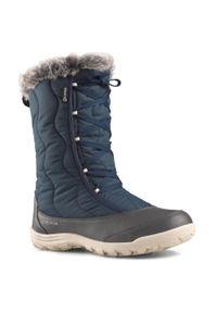 quechua - Buty turystyczne śniegowce WTP - SH500 X-WARM - sznurowane damskie. Materiał: materiał. Sezon: zima