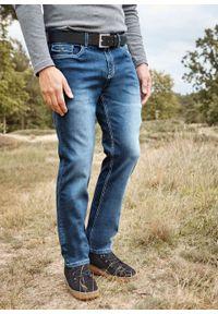 Dżinsy ze stretchem Regular Fit Straight bonprix niebieski denim. Kolor: niebieski