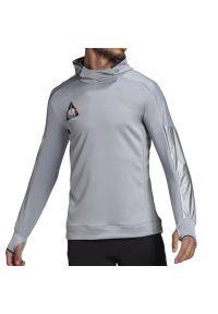 Bluza Adidas z kapturem, z aplikacjami, sportowa
