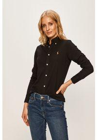 Czarna koszula Polo Ralph Lauren polo, długa, na co dzień
