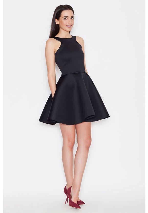 Czarna sukienka Katrus bez rękawów