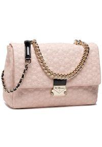Różowa torebka klasyczna Blumarine skórzana