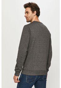 Szara bluza nierozpinana Tommy Jeans gładkie, casualowa, bez kaptura