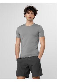 outhorn - Koszulka treningowa męska. Okazja: na co dzień. Materiał: włókno, poliester, elastan. Styl: casual