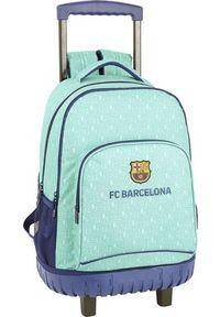 FC Barcelona Torba szkolna z kółkami Compact F.C. Barcelona 19/20 Turkusowy. Kolor: turkusowy