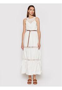 Rinascimento Sukienka letnia CFC0103508003 Biały Regular Fit. Kolor: biały. Sezon: lato