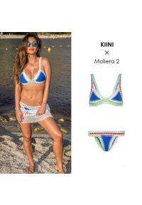 KIINI - Top od bikini Tuesday. Kolor: niebieski. Materiał: bawełna, materiał, poliester. Wzór: kolorowy