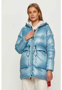 Niebieska kurtka After Label z kapturem, na co dzień