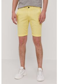 Żółte szorty Pepe Jeans casualowe, na co dzień, gładkie