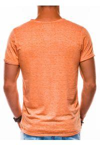 Pomarańczowy t-shirt Ombre Clothing #4