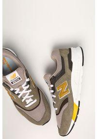 Oliwkowe sneakersy New Balance z cholewką, na sznurówki