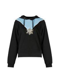 """Pinko Uniqueness Bluza """"Saint Denis"""". Okazja: na co dzień. Typ kołnierza: kaptur. Materiał: tkanina. Wzór: aplikacja. Styl: casual"""