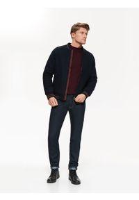 Niebieska kurtka TOP SECRET casualowa, w kolorowe wzory, na co dzień, na zimę