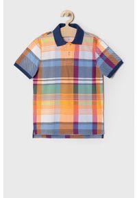 Wielokolorowy t-shirt polo GAP na co dzień, krótki