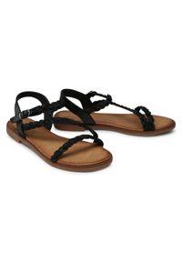 Czarne sandały Jenny Fairy na obcasie, na średnim obcasie