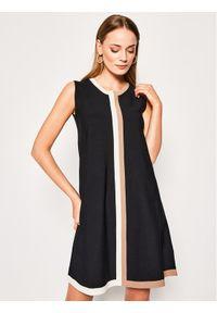 Czarna sukienka dzianinowa Luisa Spagnoli