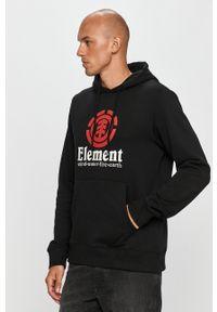 Czarna bluza nierozpinana Element z kapturem, z nadrukiem
